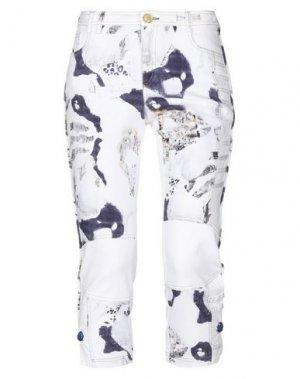 Джинсовые брюки-капри ELISA CAVALETTI by DANIELA DALLAVALLE. Цвет: белый