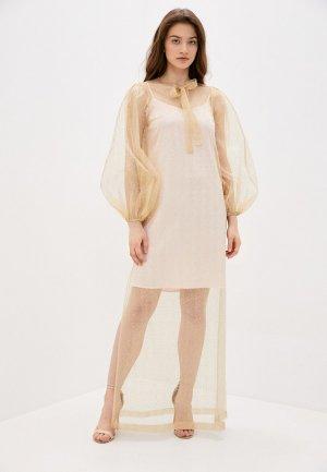 Платье Imago. Цвет: золотой