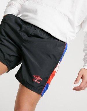 Спортивные шорты черного цвета Ultimo-Черный Umbro