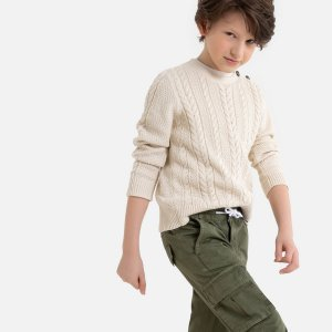 Пуловер La Redoute. Цвет: бежевый
