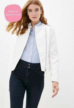 Куртка кожаная DeFacto. Цвет: белый