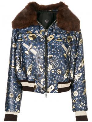 Куртка-бомбер Elladan Frankie Morello. Цвет: синий