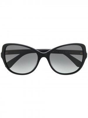 Солнцезащитные очки в оправе кошачий глаз Kate Spade. Цвет: черный