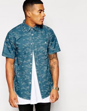 Рубашка с короткими рукавами и принтом Altamont. Цвет: синий
