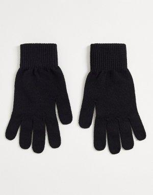 Черные перчатки -Черный цвет ASOS DESIGN