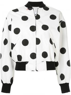 Куртка-бомбер в горох MSGM. Цвет: белый