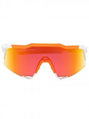 Солнцезащитные очки Speedcraft 100% Eyewear. Цвет: оранжевый