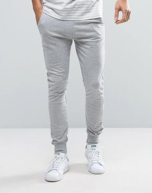 Трикотажные штаны Firetrap. Цвет: серый