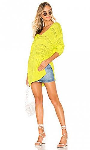 Пуловер hot tropics Free People. Цвет: зеленый