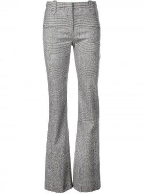 Расклешенные брюки с узором в елочку Altuzarra. Цвет: серый