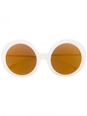 Солнцезащитные очки в круглой оправе Christian Roth Eyewear. Цвет: телесный