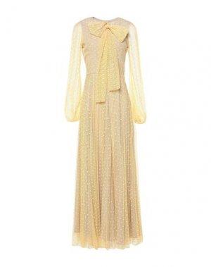 Длинное платье MANGANO. Цвет: светло-желтый