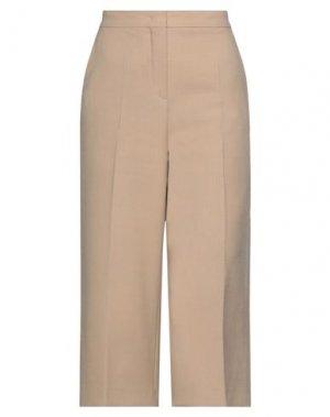 Укороченные брюки MAX MARA. Цвет: верблюжий