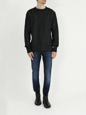 Джемпер из шерсти и акрила Versace Jeans. Цвет: seryy