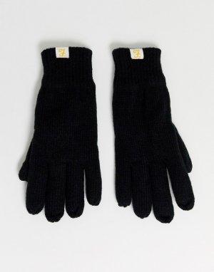Черные перчатки на подкладке -Черный Farah