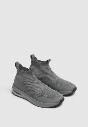 Кроссовки Pull&Bear. Цвет: серый