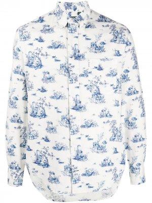 Рубашка с длинными рукавами Gitman Vintage. Цвет: белый