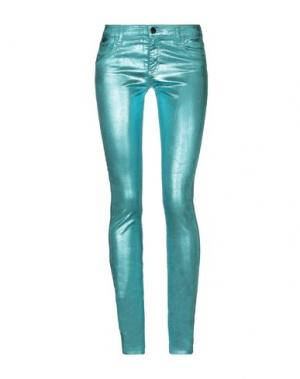 Джинсовые брюки 75 FAUBOURG. Цвет: светло-зеленый