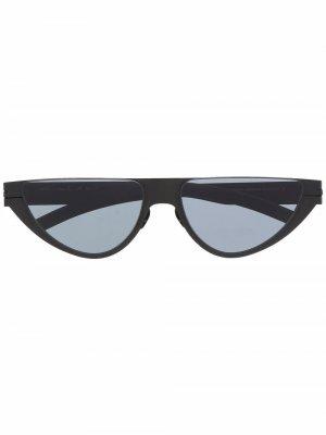 Солнцезащитные очки с закругленными линзами Mykita. Цвет: черный