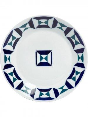 Тарелка Paxarico Monferico Sargadelos. Цвет: белый