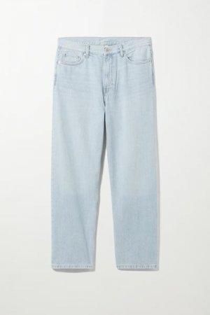 Прямые джинсы свободного кроя Galaxy Weekday. Цвет: синий