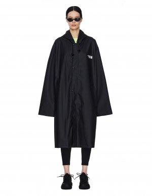 Черный дождевик с принтом Limited Edition Vetements