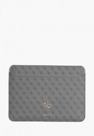 Чехол для ноутбука Guess 13, Sleeve 4G with Big metal logo Grey. Цвет: серый