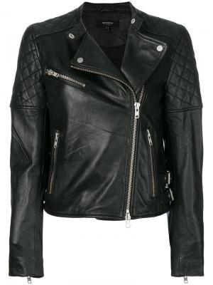Стеганая байкерская куртка Muubaa. Цвет: чёрный