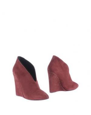 Обувь на танкетке JASMINE DI MILO. Цвет: баклажанный