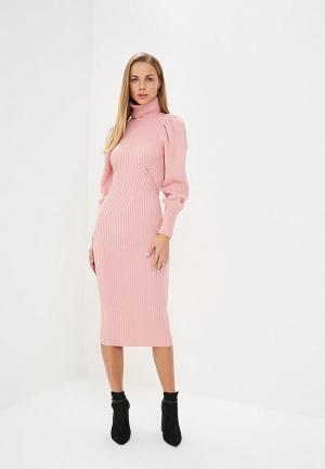 Платье Lost Ink VOLUME SLEEVE PENCIL DRESS. Цвет: розовый