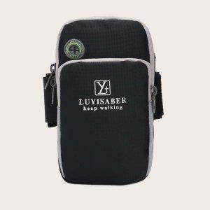 Мужская спортивная сумка SHEIN. Цвет: чёрный