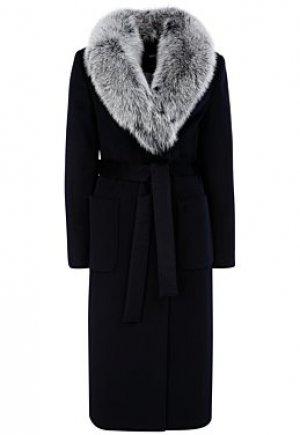 Шерстяное пальто с отделкой мехом песца Elema