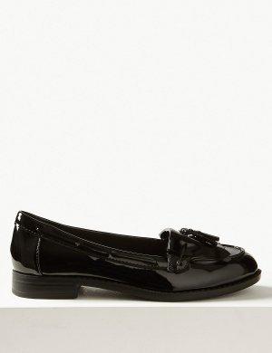 Лоферы Insolia Flex® с кисточкой M&S Collection. Цвет: черный лак
