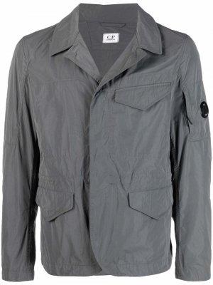 Пиджак с нашивкой-логотипом C.P. Company. Цвет: серый