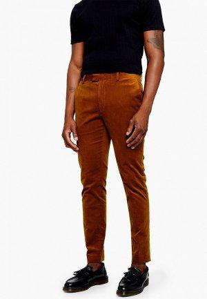 Брюки Topman. Цвет: коричневый