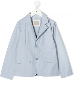 Однобортный пиджак Douuod Kids. Цвет: синий