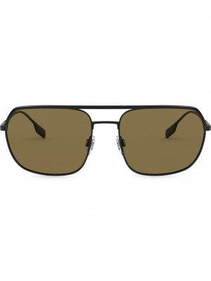 Солнцезащитные очки Square Pilot Burberry Eyewear. Цвет: черный