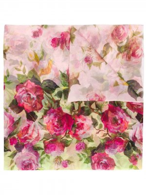 Платок с цветочным принтом Blumarine. Цвет: желтый
