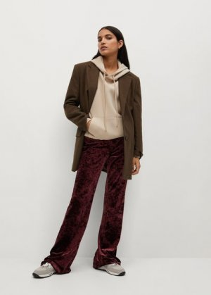 Расклешенные брюки бархат - Marta Mango. Цвет: гранатовый
