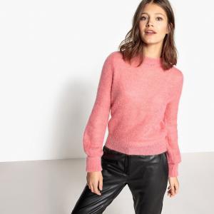 Пуловер из мохера LA REDOUTE COLLECTIONS. Цвет: розовый,слоновая кость