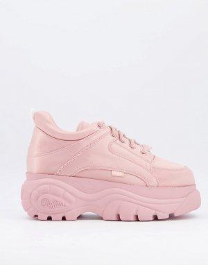 Розовые кроссовки на массивной платформе -Розовый Buffalo