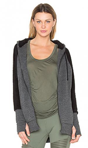 Куртка с отделкой шерпой enhance alo. Цвет: черный