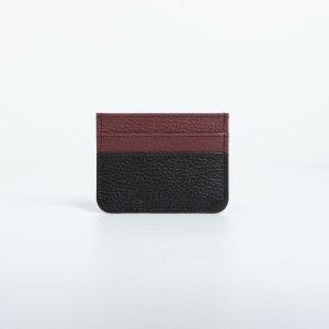 Картхолдер, цвет чёрный/бордовый TEXTURA