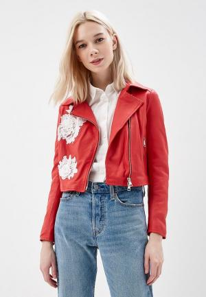 Куртка кожаная Imperial. Цвет: красный