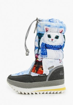 Дутики King Boots. Цвет: голубой