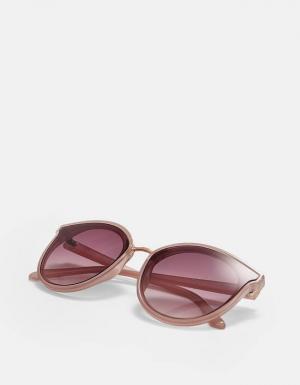 Очки в каучуковой оправе с металлической деталью ЖЕНСКАЯ КОЛЛЕКЦИЯ Цвет розового макияжа 103 Stradivarius