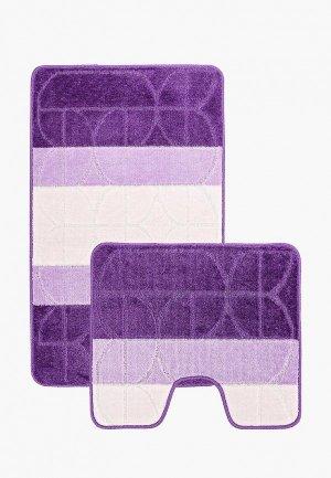 Комплект ковриков Tete-a-Tete. Цвет: фиолетовый