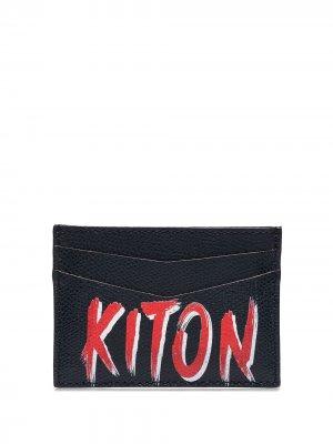 Картхолдер с логотипом Kiton. Цвет: синий