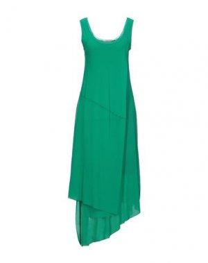 Длинное платье FUZZI. Цвет: зеленый