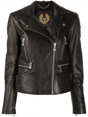 Куртка с косой молнией Belstaff. Цвет: черный